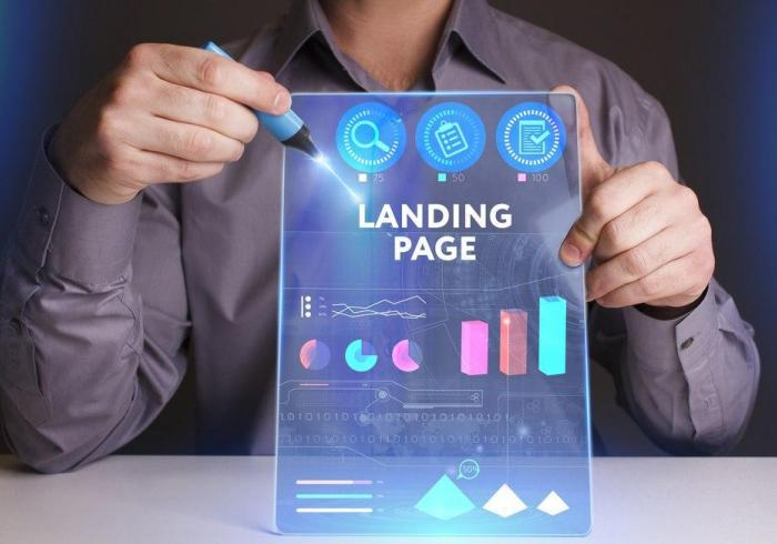 Landing Page Webseite